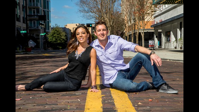 downtown tampa engagement photography