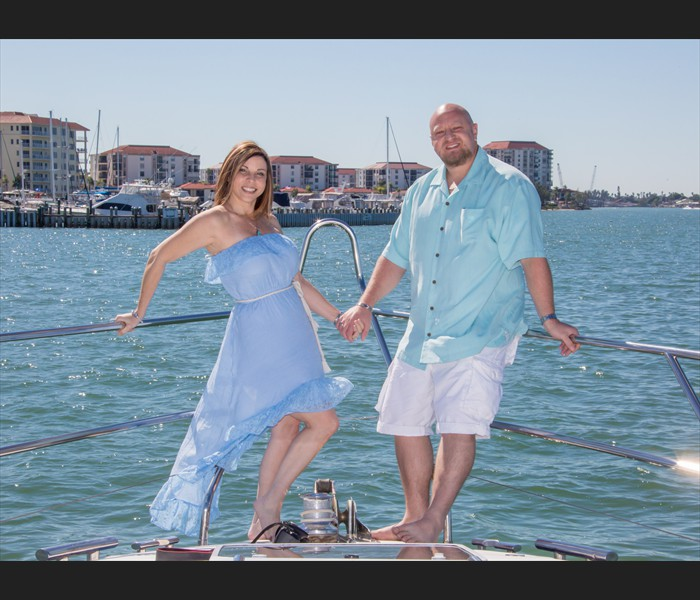 St. petersburg yacht engagement photography