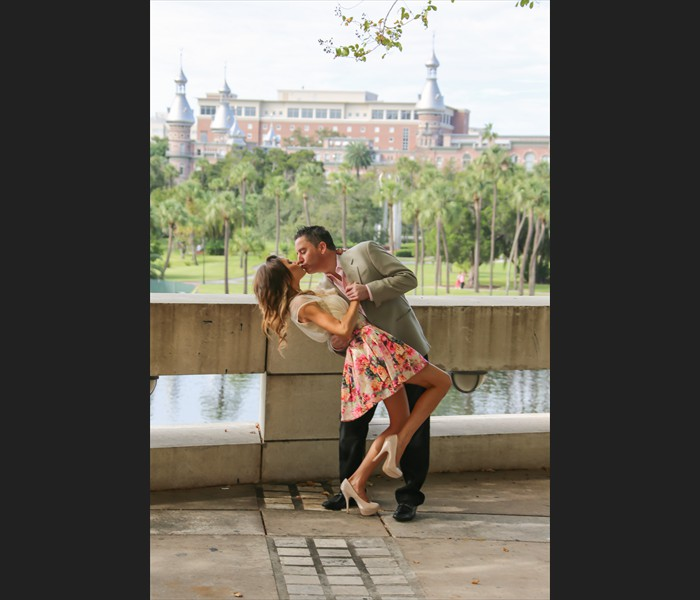 University of Tampa Engagement Photograph