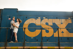 railroad engagement photography tampa, professional engagement photography tampa, avstatmedia,